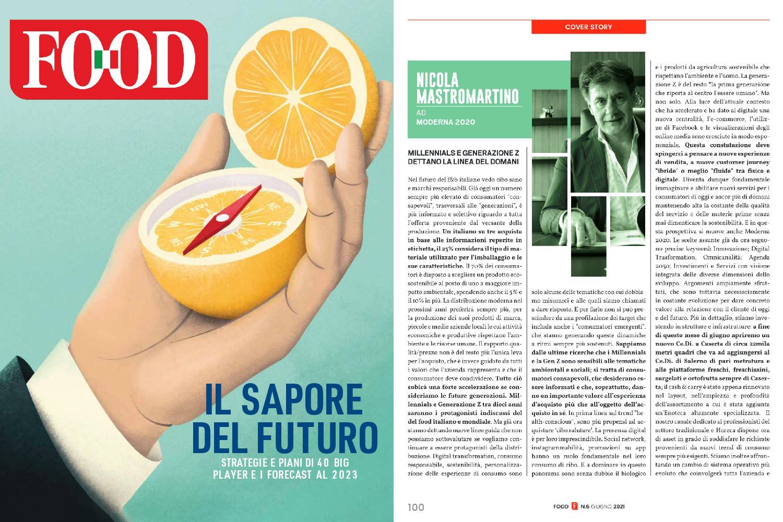 """Nicola Mastromartino. Intervista alla rivista """"Food""""."""